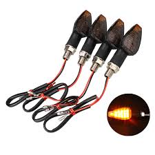 <b>4Pcs Universal Motorcycle</b> Motorbike Turn Signal LED Blinker Light ...