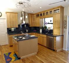 Small Kitchen Island Designs Painted Kitchen Cabinets With Natural Wood Doors Quicuacom