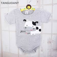 TANGUOANT Drop shipping <b>Newborn Baby</b> clothes,<b>Cow</b> Printed ...