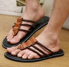 <b>Korean Mens Flip Flops</b> Slip On Loafers Non-slip Thongs Casual ...