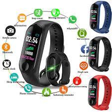 Waterproof Bluetooth <b>Smart Band Watch</b> HeartRate M3 <b>Bracelet</b> ...
