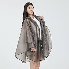 Outdoor Walking Adult Korean <b>Portable Transparent</b> Raincoat Cloak ...