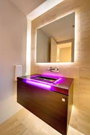 bathroom vanity lighting ideas with faux wood wall and tile bathroom effervescent contemporary bathroom vanity lighting
