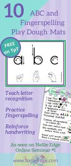 best images about sign language and literacy connections on 10 abc fingerspelling and play dough mats available on tpt includes playdough recipe and