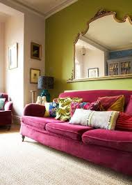 chic pink and green burgundy furniture decorating ideas