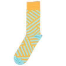 <b>Носки Burning Heels Diagonal</b> Yellow Blue