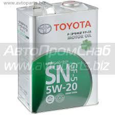 <b>Моторное масло TOYOTA Motor Oil</b> 5W-20 SN, GF-5, 4 л / 08880 ...