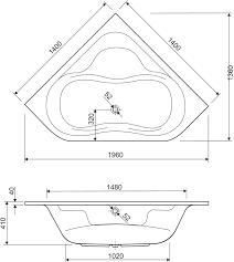<b>Акриловая ванна Cezares Plitvice</b> 140x140 купить в магазине ...