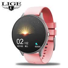 LIGE <b>2020 New</b> Full Touch Screen <b>Smart Watch</b> Women ...
