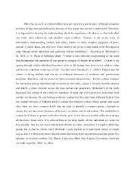 essay on culture understanding