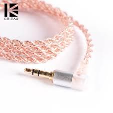 <b>KBEAR 4</b> core <b>Copper cable</b> with metal interface 2 pin/QDC/MMCX ...