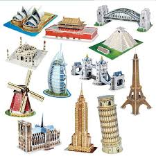 <b>3D Three</b>-<b>dimensional Puzzle</b> Word Famous Buildings Architecture ...