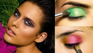 summer makeup ideas neon eye