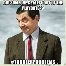 Did someone get left out of the playdate?? #toddlerproblems - MR ... via Relatably.com