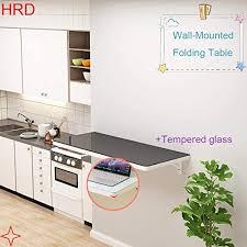 Small Wall Table, <b>Folding</b> Kitchen Desk, Tempered Glass, <b>High</b> ...