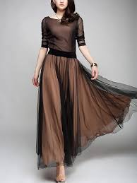 Image result for Long chiffon skirt
