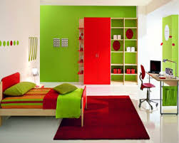cheap kids bedroom ideas: full imagas green and white wall bedroom for boys combined with white modern ceramics floor can