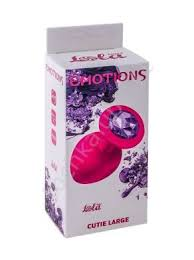 <b>анальная пробка emotions</b> cutie large pink dark purple crystal