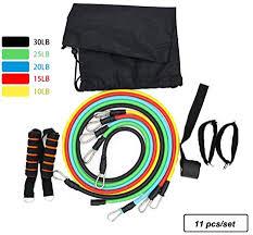 <b>11Pcs</b>/<b>Set Latex Stretch Bands</b> Fitness Resistance Bands Set with 5 ...