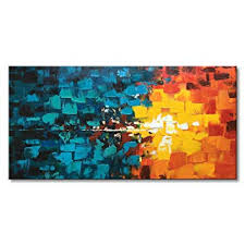Hand Painted Abstract Oil Painting on Canvas ... - Amazon.com