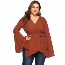 SAGACE <b>Fashion Women's</b> Blouse <b>2019</b> Bell Sleeve Loose <b>Polka</b> ...