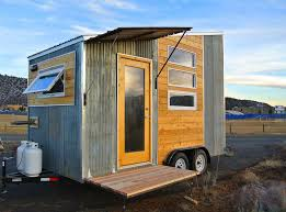 durango tiny house a wood and metal clad tiny house mounted to a boulder tiny house front