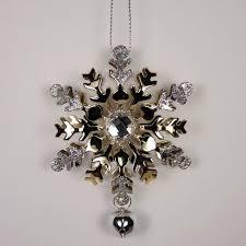 Новогоднее <b>украшение Crystal Deco</b> «<b>Снежинка</b> с камнем ...