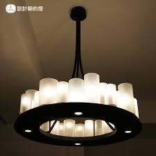 american retro led candle pendant light european style glass hanging lamp living room restaurant bar lamp candle pendant lighting