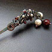 Магазин мастера Jacozy >медно-каменные украшения<: <b>серьги</b> ...