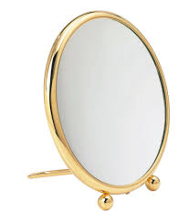 table mirror: table mirror traditional round magnifying fidji