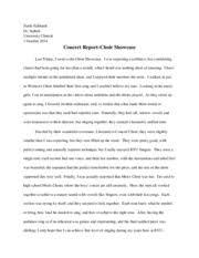concert choir and byu singers concert report   eckhardt  starla     pages concert report choir showcase