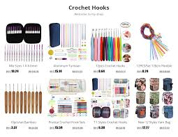 New Lighted Crochet Hooks with 9pcs <b>Mix</b> 2.5mm to 6.5mm ...