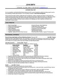 Cover Letter  Realtor Resume Sample for Professional Profile  real