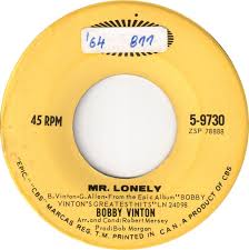Image result for mr. lonely bobby vinton epic 45