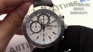 Обзор. Японские наручные <b>часы Seiko SSB191P1</b> с хронографом