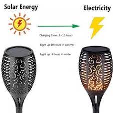 Set of <b>2</b> Flickering <b>Flame Solar</b> Torches   Outdoor living   <b>Solar</b> led ...