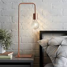12 bedside table lamps to dress up your bedroom arc copper table lamp from cb2 bedroom nightstand lamps ideas lighting models bedside