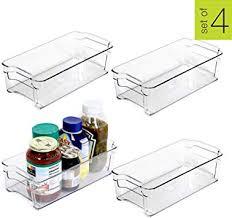 Smart Design Stackable <b>Refrigerator</b> Bin w/<b>Handle</b> - BPA <b>Free</b>