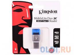 <b>Картридер Kingston</b> MobileLite MobileLite Duo 3C <b>FCR</b>-<b>ML3C</b> ...
