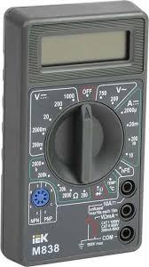"""<b>Мультиметр</b> цифровой <b>IEK</b> """"<b>Universal M838</b>"""" — купить в интернет ..."""