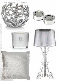 shimmering white bedroom accessories kelly hoppen perfumed candles metallic silver cushions kartell bourgie accessoriespretty black white silver bedroom ideas