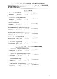 company supervisor evaluation form samantha s e portfolio company supervisor evaluation form