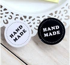 <b>80PCS</b>/<b>lot</b> Round Black and white HAND MADE Craft paper Sealing ...