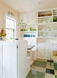 Shabby Chic Colors For Kitchen : Solid color kitchen shabby chic style with built in banquette