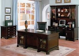 home office idea dark wooden set furniture for home office ideas with awesome rug awesome shelfs small home office