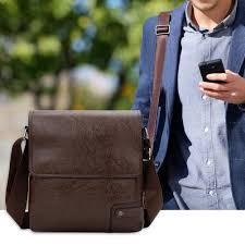 Walkaround <b>Solid Color</b> Men Messenger <b>Bags</b> Retro Leather ...