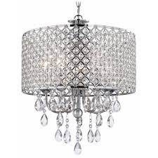 crystal chrome chandelier pendant light with crystal beaded drum shade chandelier pendant lighting