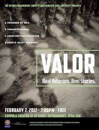 school of cinema 3rd annual veteran documentary corps screening of valor