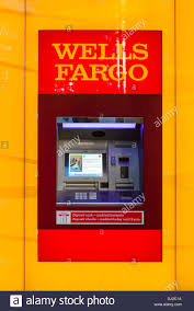 wells fargo bank atm machine usa stock photo royalty image wells fargo bank atm machine usa