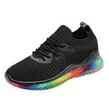 YEBIRAL <b>Women's</b> Trendy Rainbow Jelly Sole <b>Sneakers</b> Ladies ...